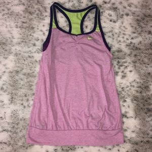 Girls Medium Nike Dry Fit Tank Top with Bra